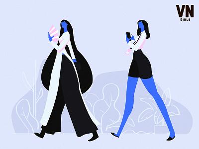 Vietnamese characterdesign design flat art concept illustration