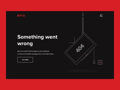 Netflix 404 Error Page