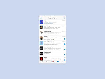Telegram Messenger for iOS – Feed