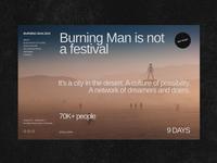 Burning Man Website Concept
