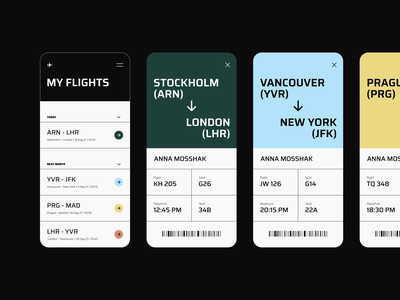Boarding Pass typography colors plane airline environment exploration book flight boarding pass mobile app interface gogoapps minimal design ui