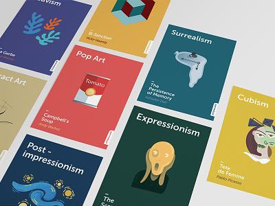 Minimalistic postcards - Art Styles post impressionism fauvism expressionism cubism surrealism pop art poster minimalistic postcards art styles postcards