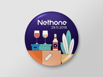 Pin for After Hours party wine glass wine housewarming party beer bottle beer box boxes flat  design illustration design plant illustration illustration plant pin badge pin party event party afterhours