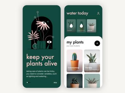Plant Care App Concept