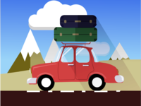 Car travelling