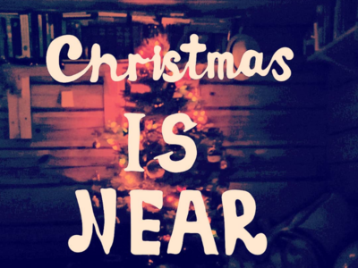 Christmas is near lettering
