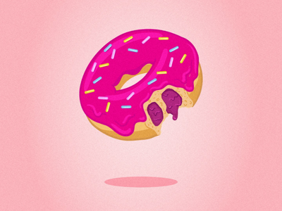 Drippin' Donut jam dripping candy color sweets illustration food pink colors graphic design donut donuts