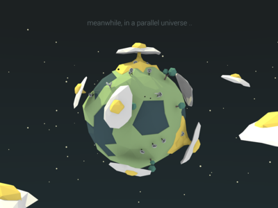 Parallel Universe Lowpoly 3d blender low-poly