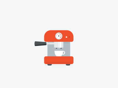 Coffee coffee machine flat illustrator illustration