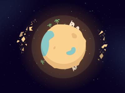 Desert Planet illustrator space desert planet