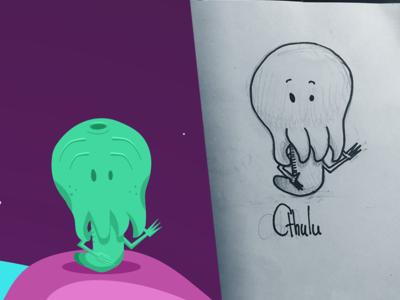 Cthulu space sketch illustrator illustration game flat cthulhu