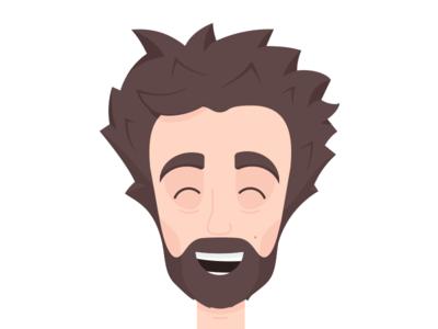 Me flat self-portrait illustration illustrator