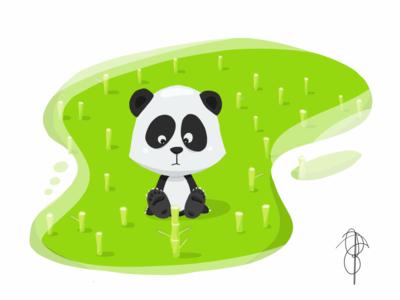 Lil' Panda whatever bamboo panda apple pencil ipad pro adobe illustrator draw illustration