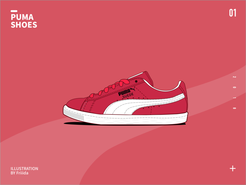 Puma shoes design illustration