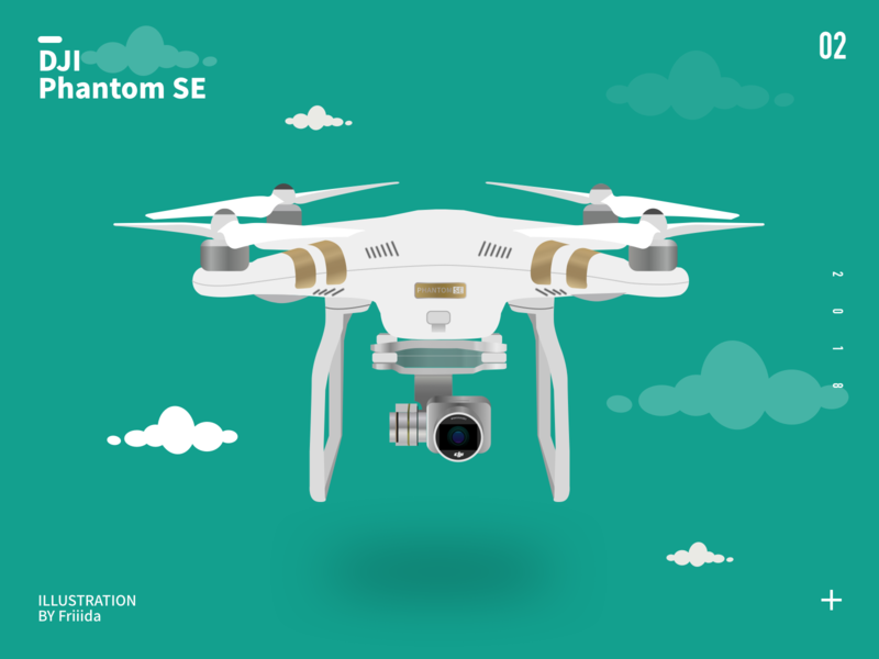 DJI phantom illustration vector design illustration