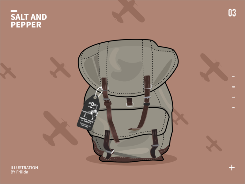 siwss army backpack design illustration