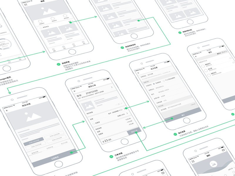 Wireframe of app driver illustration ui car