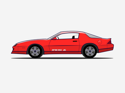 Classic Camaro cartoon rims shading tires illustrator classic car car chevy irocz camaro