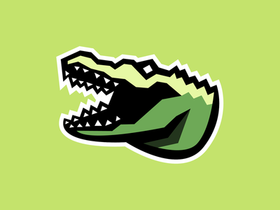 Gator thick lines lime green logo esports logo esportslogo esports alligator gator
