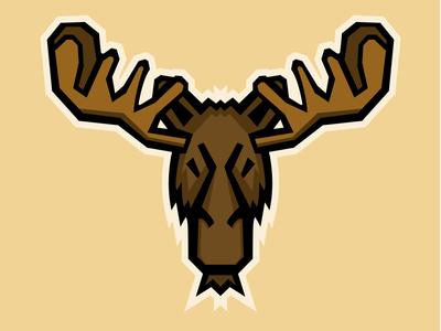 Moose mascot logo