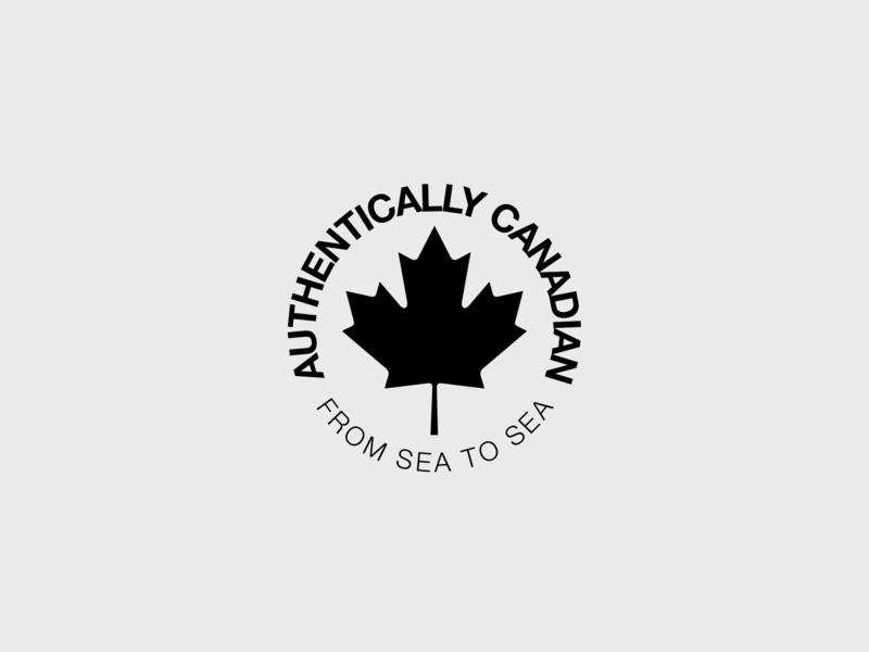 AUTHENTICALLY CANADIAN logomark illustrator canadian canada day badge authentically canadian logo logocore maple leaf mapleleaf canada
