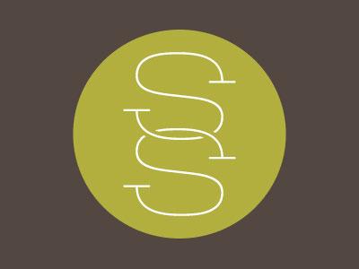 double-s logo thin letterform
