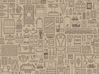 General Store Pattern background store objects pattern