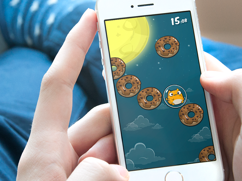 Donuts: Lost In Space! character iphone game space donut doughnut cat cartoon app