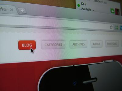 KeirAnsell(dot)com 4 Preview blog light red beige navigation