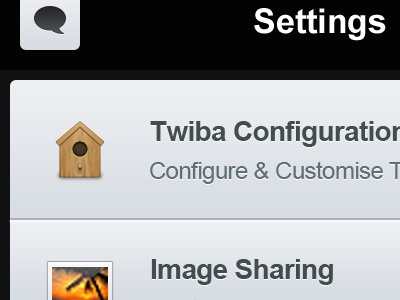 Twiba Settings twiba twitter iphone retina