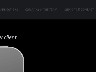 YummyCocoa - Navigation yummycocoa dark black website iphone ampersand