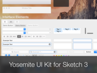 Yosemite UI Kit for Sketch