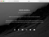 KeirAnsell.com Splash