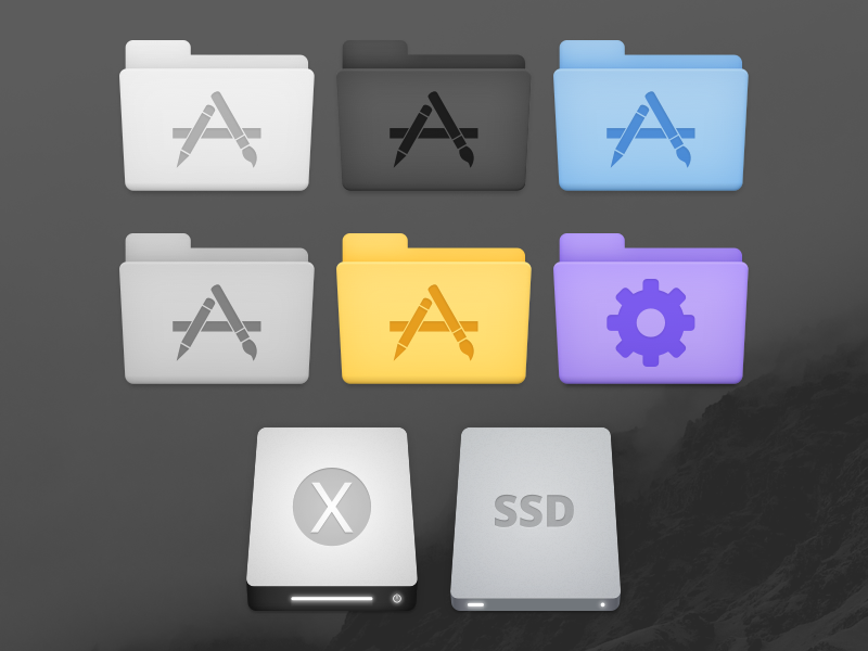 TWAIN Icon Set system el capitan yosemite os x mac icon set icons icon