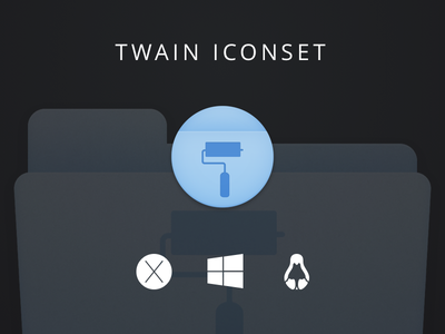 TWAIN Icon Set sketch ui kit drive folder icons icon freebie