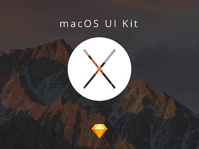 macOS UI Kit ui ui kit sierra os x macos sketch freebie