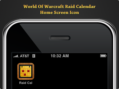 WoW Raid Calendar Icon wow iphone icon
