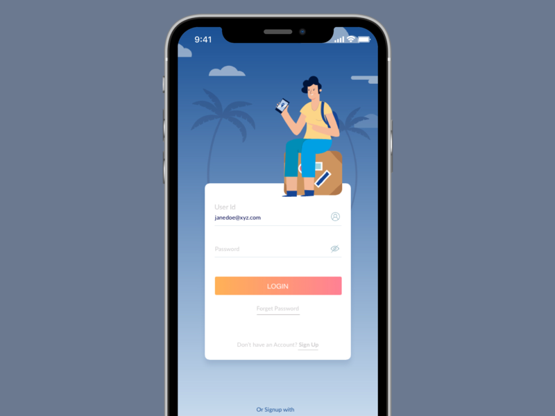Plan your travel travel design login illustration ui