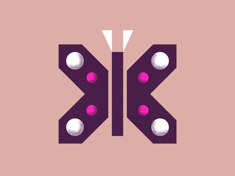 Moth geometric nature stippling texture illustration bug moth