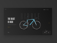 Website for a cycle company ecommerce transportation covid19 bicycle landing page