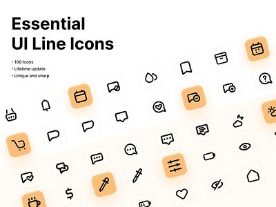Essential Line Icons minimal logo design vector iconography illustration branding icon