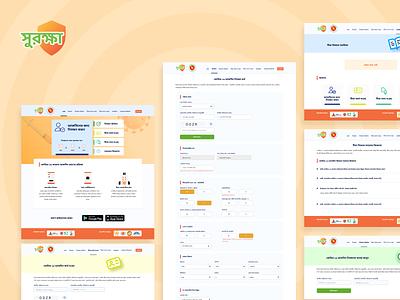 Surokkha- A web app for covid 19 vaccination distribution uxdesign uidesign ui