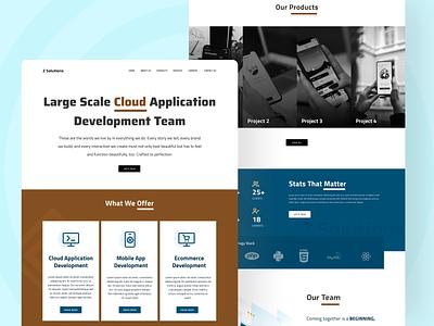 Software Solution Provider Company Website ui  ux company agency website uidesign ui