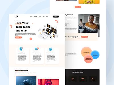 Technology Solution Provider Website agency website figma website design techcompany software website ui