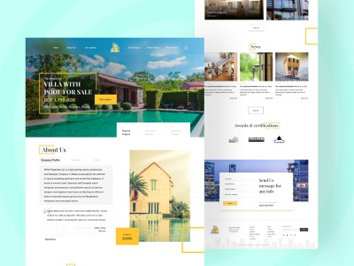 Real Estate Company Website about us contact us figma themeforest theme design web design website realestate web realestate