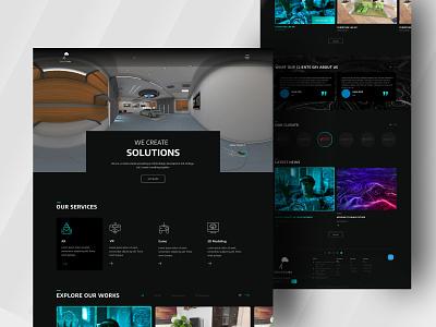 Dreamerz Lab Website Redesign software company company website figma website vr design ar app html template website concept website design redesign