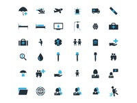 Medical glyph Icon set