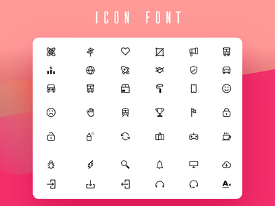 450+ Free Line Icons Project - LineIcons iconography design ui illustration icon font icon