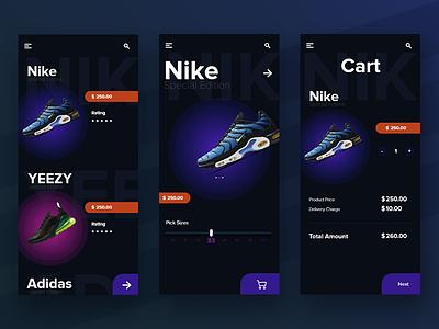 E commerce app concept design asset free xd concept ui designer shoe app e shop e commerce free xd ui app
