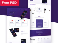 App Landing Page Free PSD